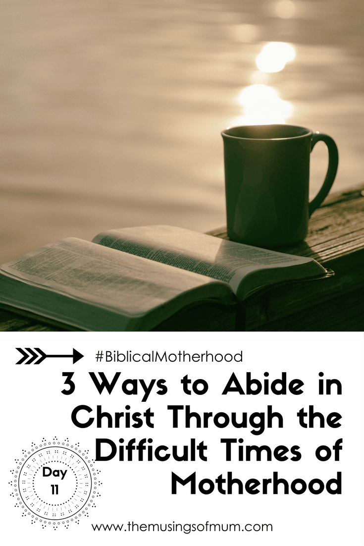 3 Ways to Abide in Christ Through the Difficult Times of Motherhood